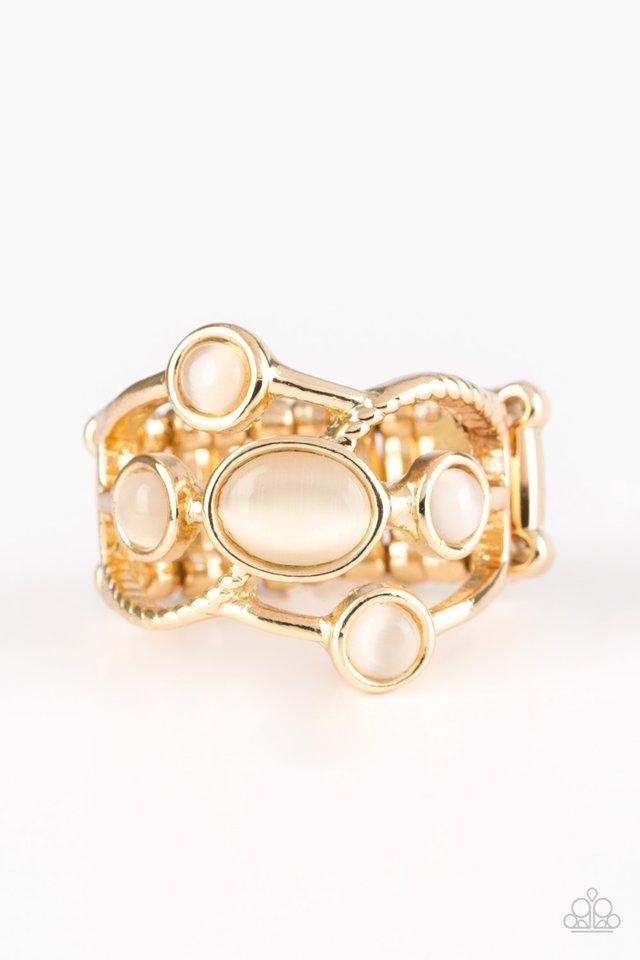 Moon Mood - Gold - Paparazzi Ring Image