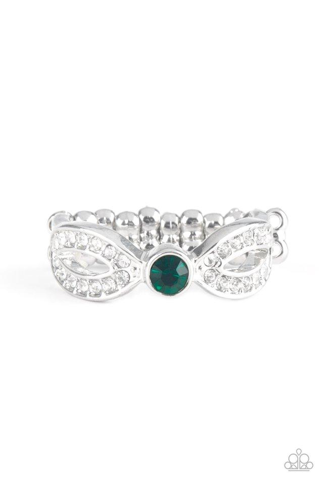 Extra Side Of Elegance - Green - Paparazzi Ring Image
