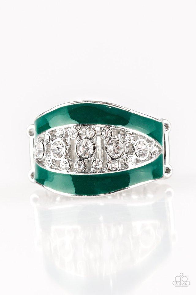Trending Treasure - Green - Paparazzi Ring Image