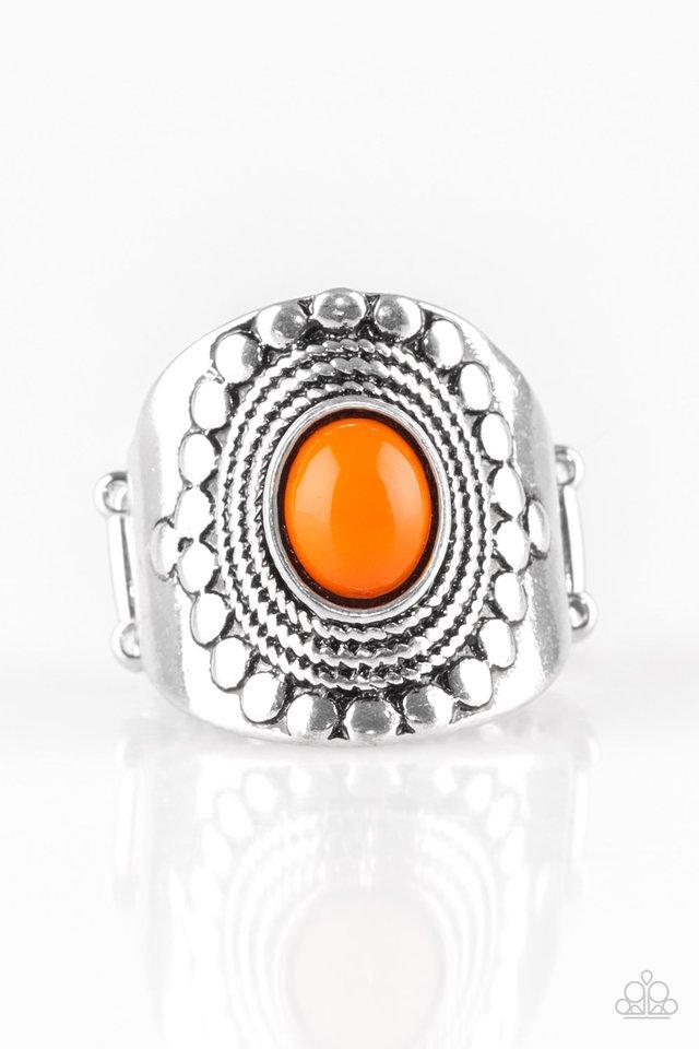 ZEN To One - Orange - Paparazzi Ring Image