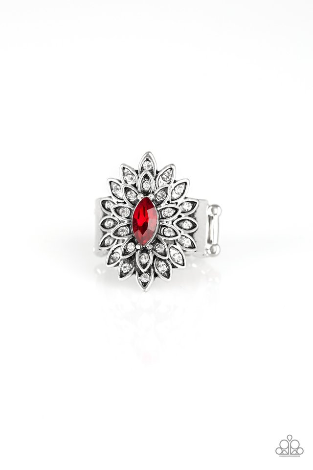 Blooming Fireworks - Red - Paparazzi Ring Image