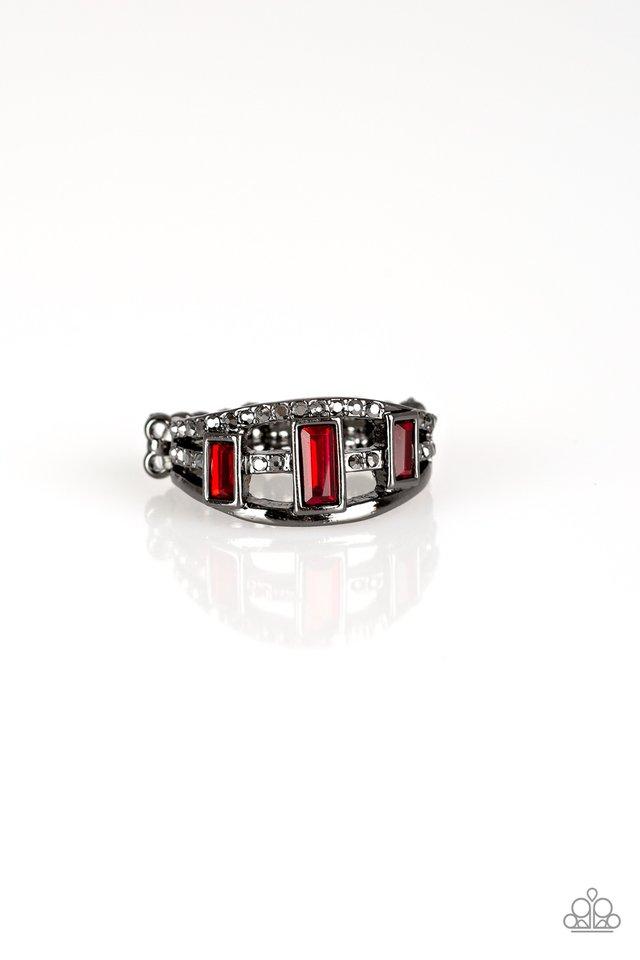 Noble Nova - Red - Paparazzi Ring Image