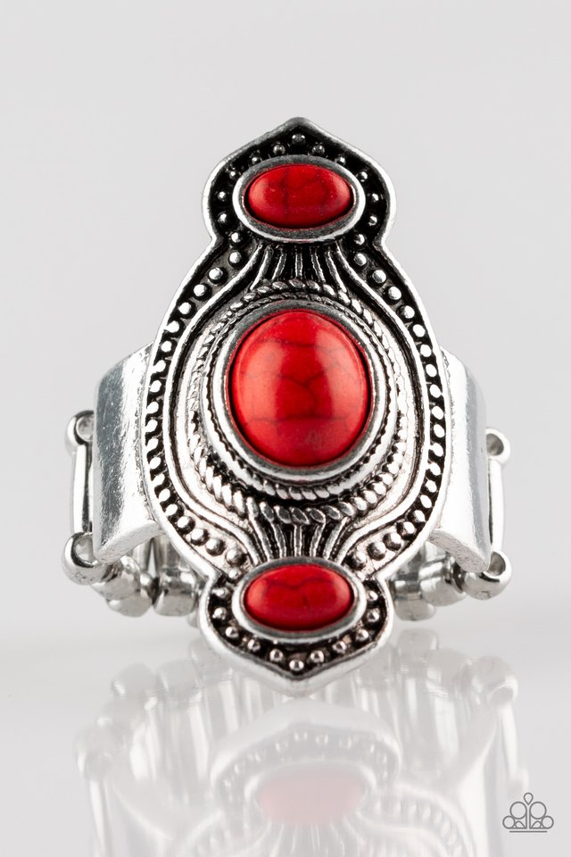 Dune Drifter - Red - Paparazzi Ring Image