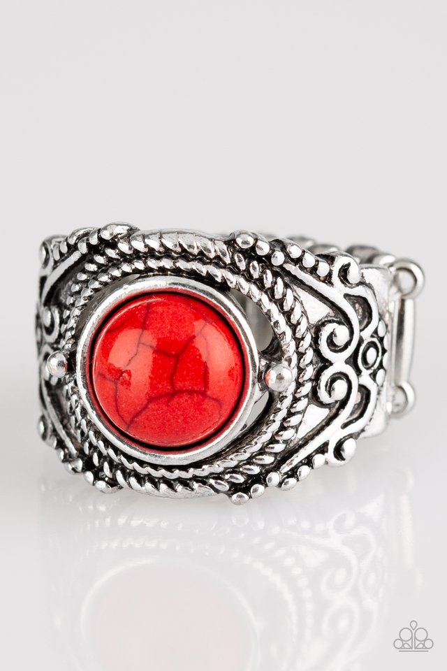 Stand Your Ground - Red - Paparazzi Ring Image