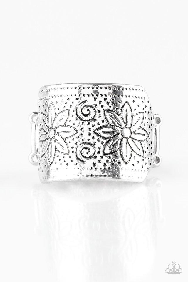 Wild Meadows - Silver - Paparazzi Ring Image