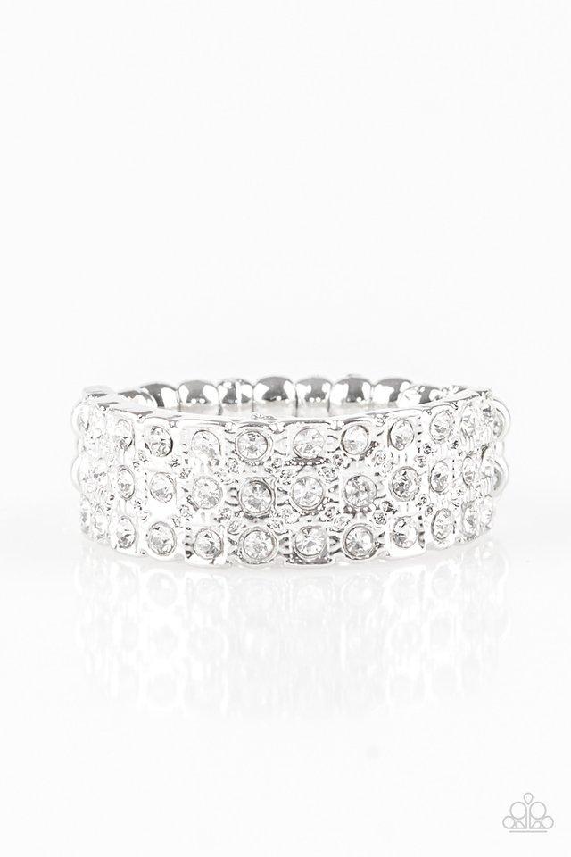 Feeling Fab-YOU-less - White - Paparazzi Ring Image