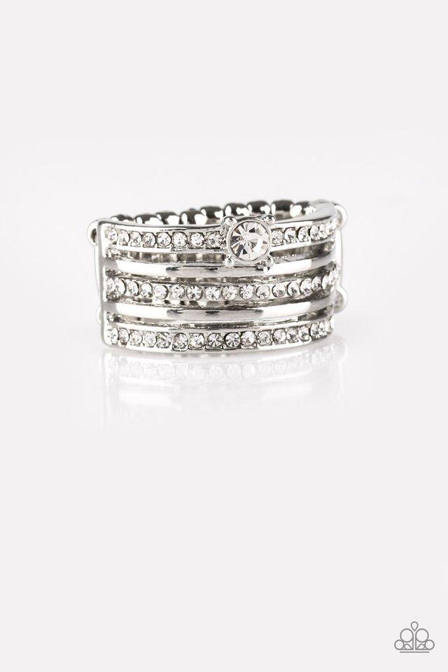 The Dealmaker - White - Paparazzi Ring Image