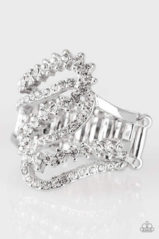 Make Waves - White - Paparazzi Ring Image