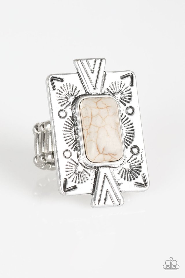 So Smithsonian - White - Paparazzi Ring Image