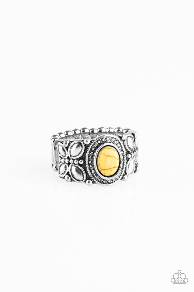 Butterfly Belle - Yellow - Paparazzi Ring Image