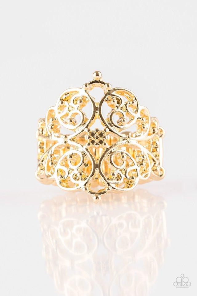 Victorian Valor - Gold - Paparazzi Ring Image