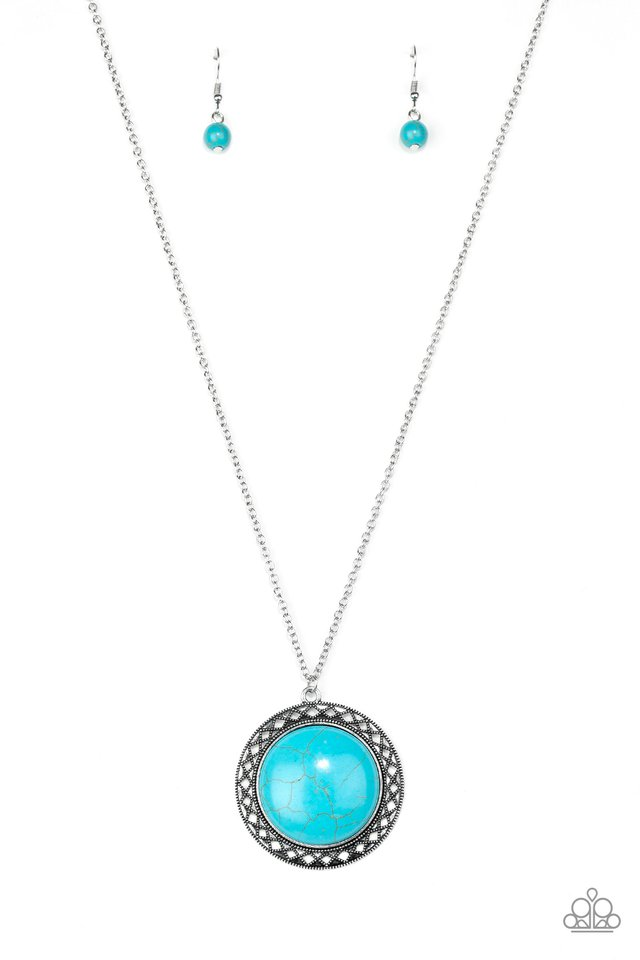Run Out Of RODEO - Blue - Paparazzi Necklace Image
