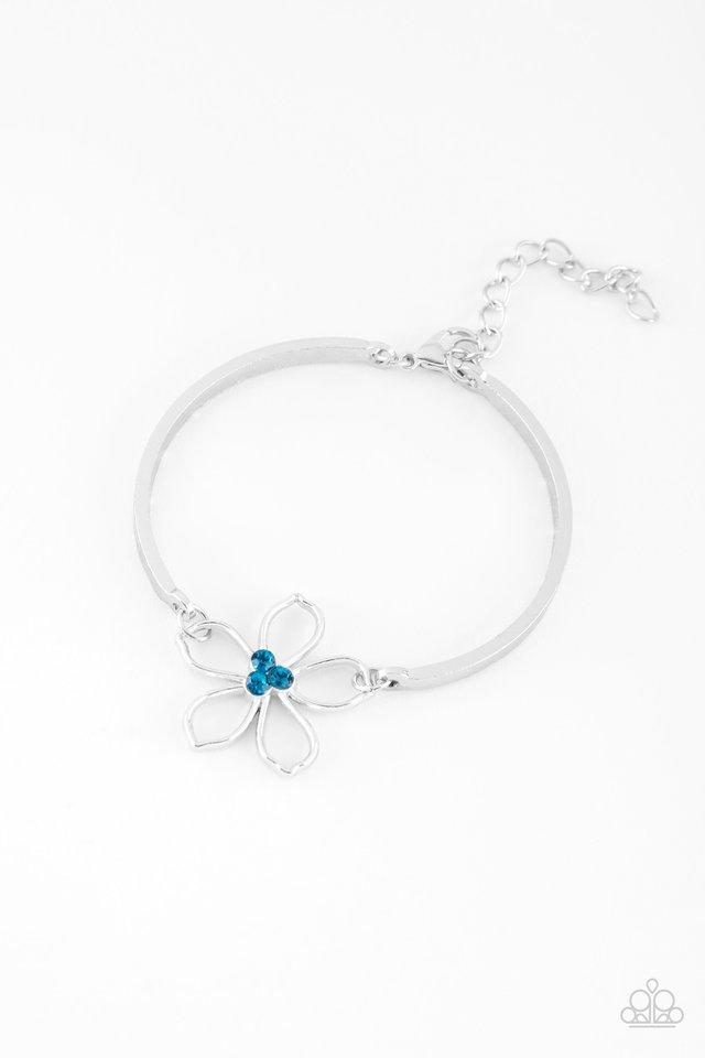 Hibiscus Hipster - Blue - Paparazzi Bracelet Image