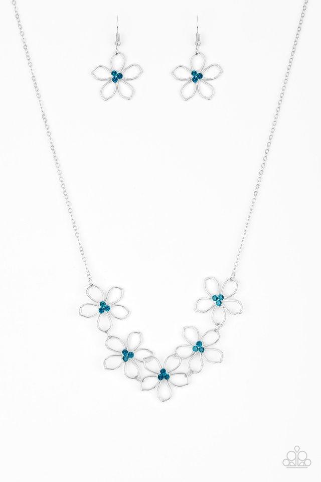 Hoppin Hibiscus - Blue - Paparazzi Necklace Image