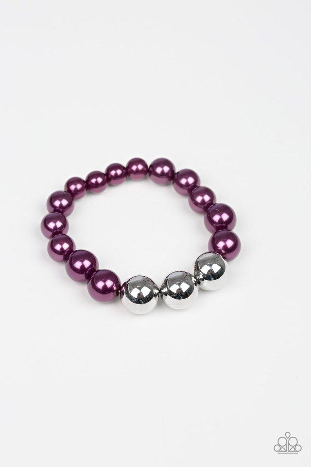 All Dressed UPTOWN - Purple - Paparazzi Bracelet Image