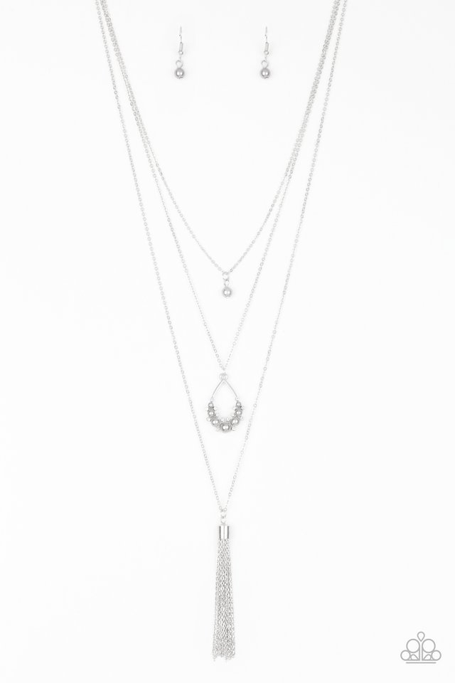 Be Fancy - Silver - Paparazzi Necklace Image