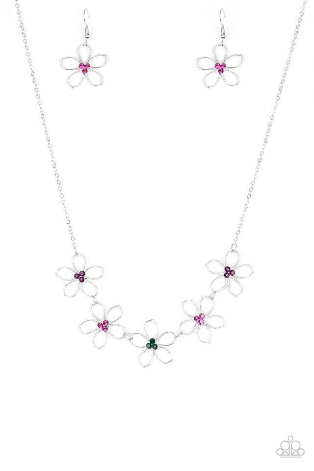 Hoppin Hibiscus - Multi - Paparazzi Necklace Image