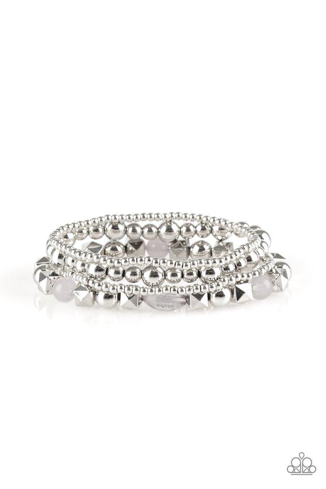 Babe-alicious - Silver - Paparazzi Bracelet Image