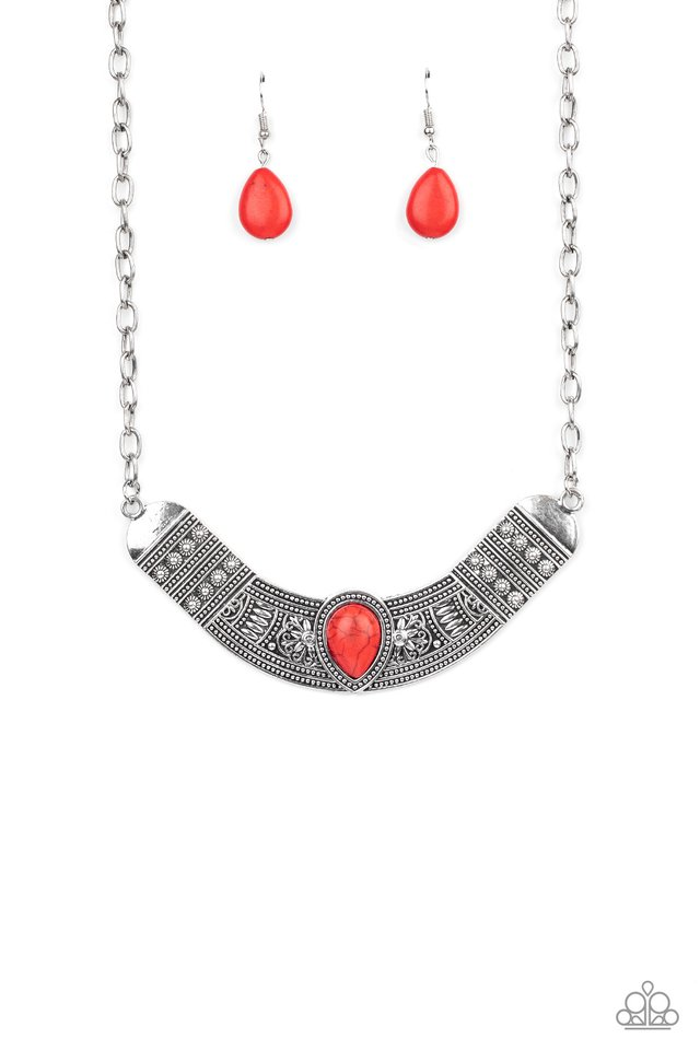 Very Venturous - Red - Paparazzi Necklace Image