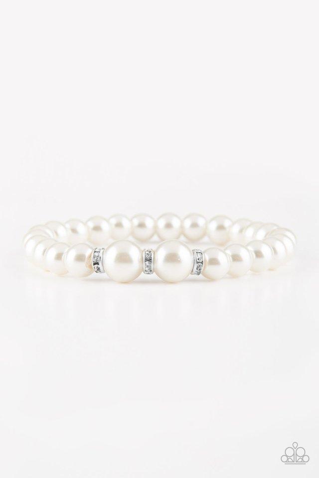 Radiantly Royal - White - Paparazzi Bracelet Image
