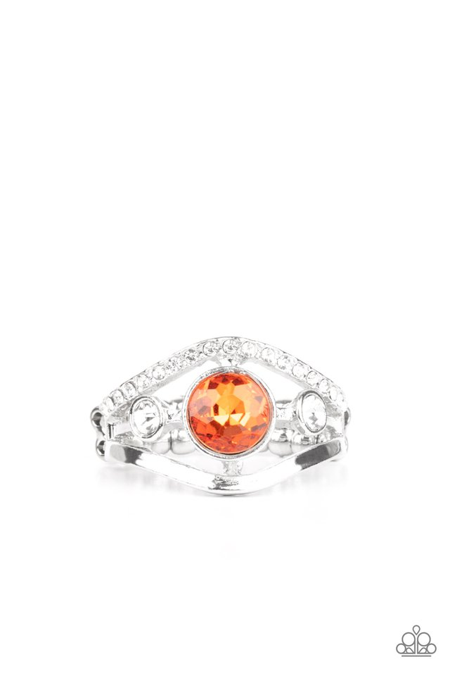 Rich With Richness - Orange - Paparazzi Ring Image