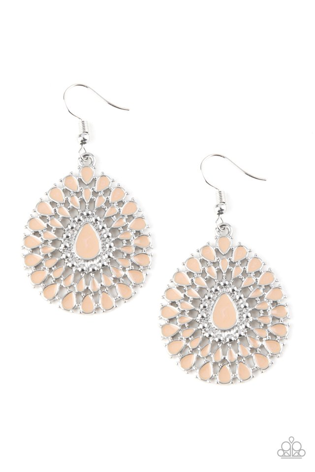 City Chateau - Brown - Paparazzi Earring Image
