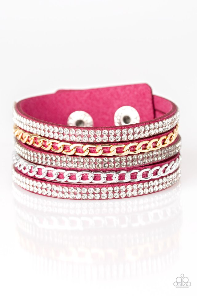 Fashion Fiend - Pink - Paparazzi Bracelet Image