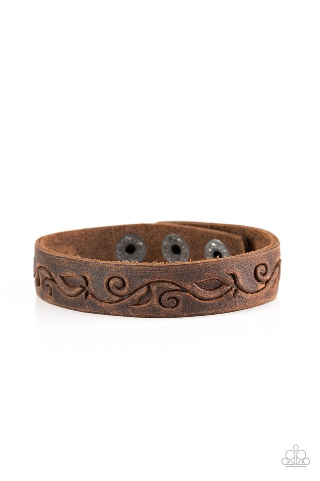 Fearless Forager - Brown - Paparazzi Bracelet Image