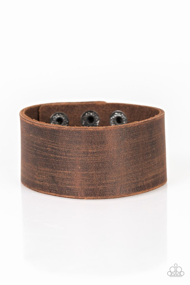 Casually Cowboy - Brown - Paparazzi Bracelet Image
