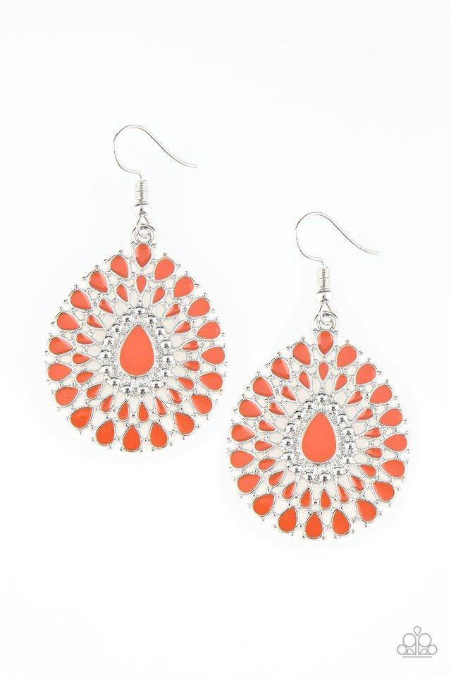 City Chateau - Orange - Paparazzi Earring Image