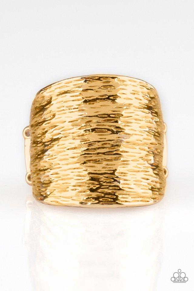 Paleo Patterns - Gold - Paparazzi Ring Image