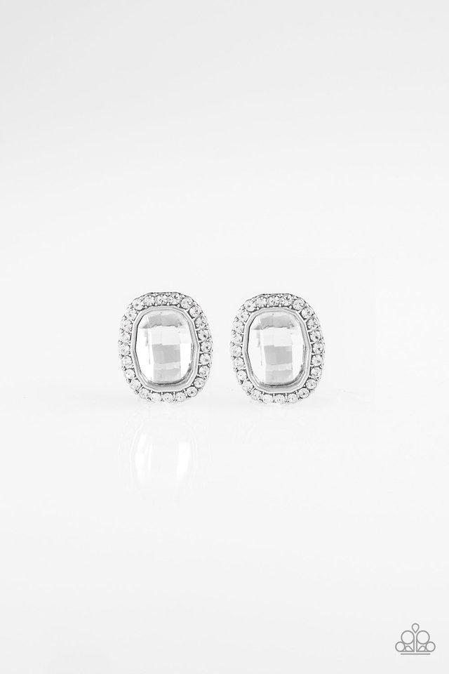 The Modern Monroe - White - Paparazzi Earring Image