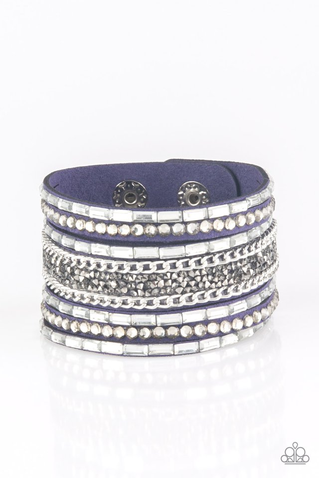 Rhinestone Rumble - Blue - Paparazzi Bracelet Image