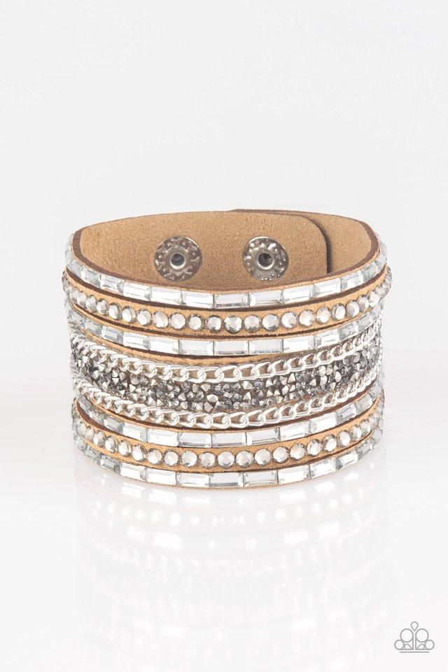 Rhinestone Rumble - Brown - Paparazzi Bracelet Image