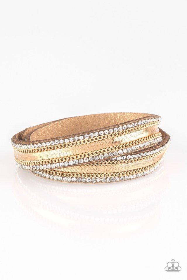 Rocker Rivalry - Gold - Paparazzi Bracelet Image