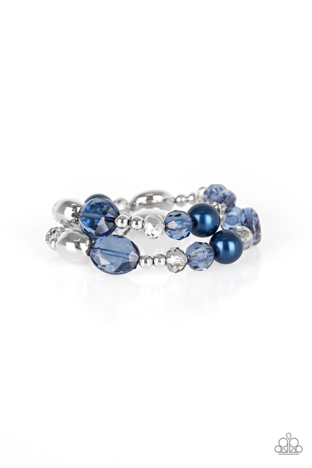 Downtown Dazzle - Blue - Paparazzi Bracelet Image