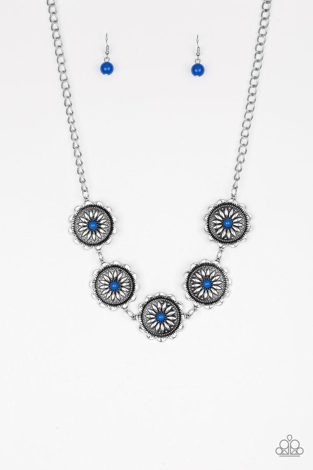 Me-dallions, Myself, and I - Blue - Paparazzi Necklace Image