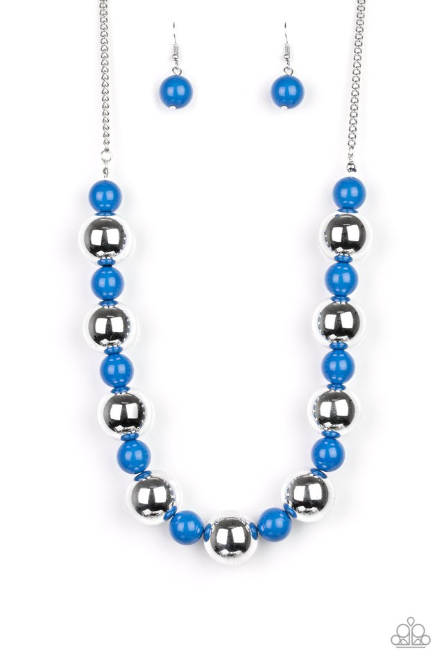 Top Pop - Blue - Paparazzi Necklace Image