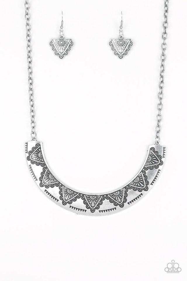 Persian Pharaoh - Silver - Paparazzi Necklace Image
