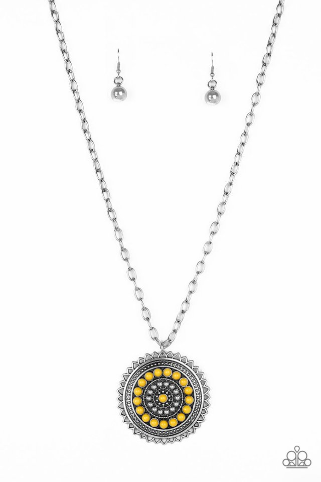 Lost SOL - Yellow - Paparazzi Necklace Image