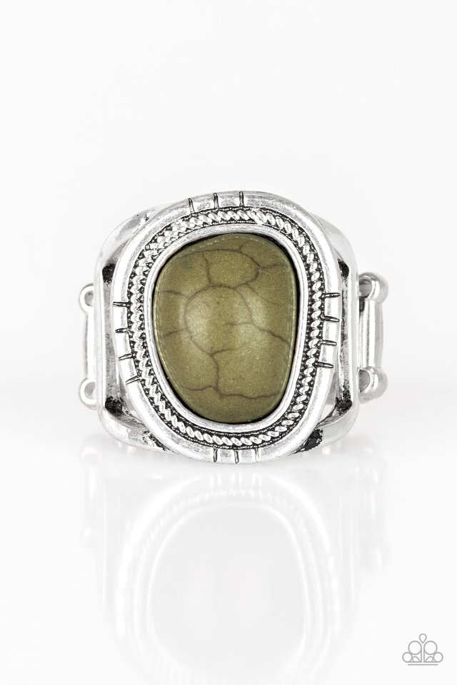 Out On The Range - Green - Paparazzi Ring Image