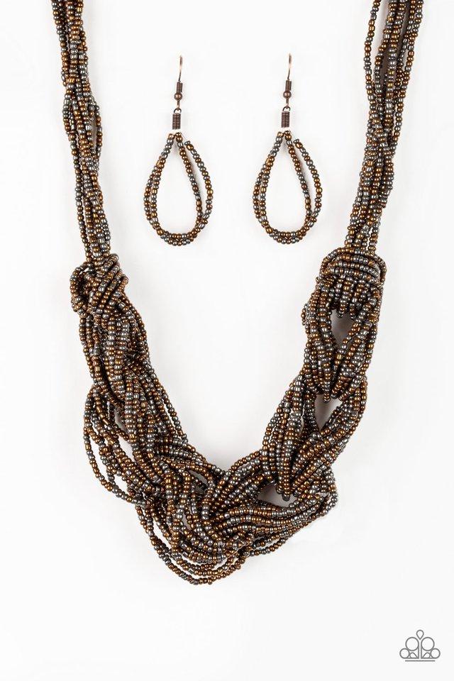 City Catwalk - Copper - Paparazzi Necklace Image