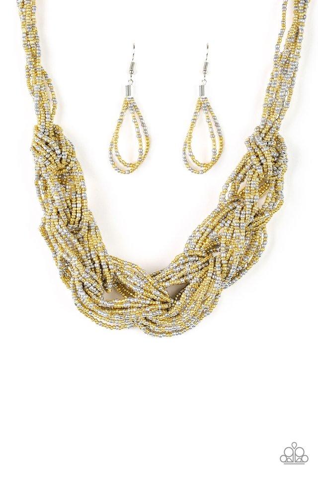 City Catwalk - Gold - Paparazzi Necklace Image