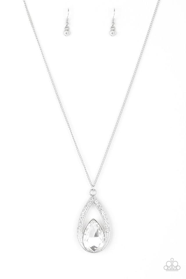 Notorious Noble - White - Paparazzi Necklace Image
