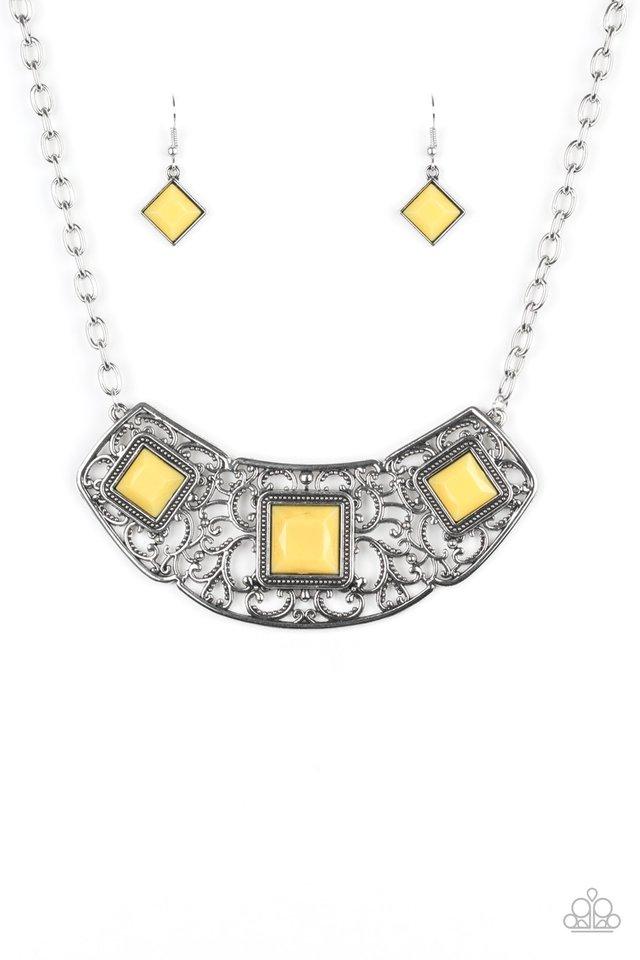 Feeling Inde-PENDANT - Yellow - Paparazzi Necklace Image