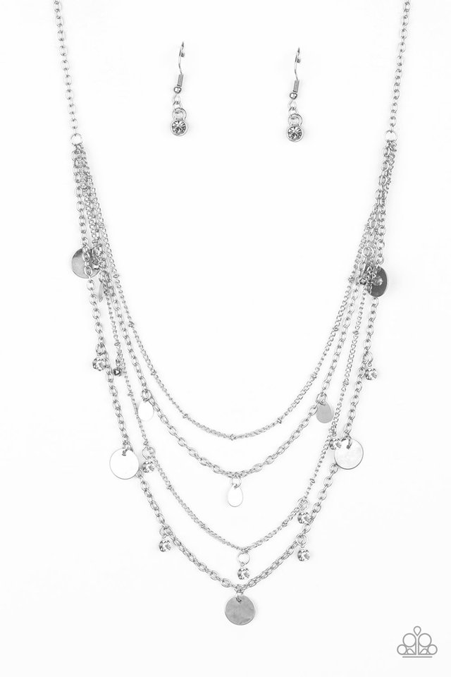 Classic Class Act - White - Paparazzi Necklace Image