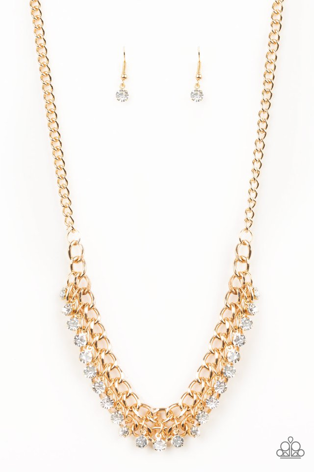Glow and Grind - Gold - Paparazzi Necklace Image