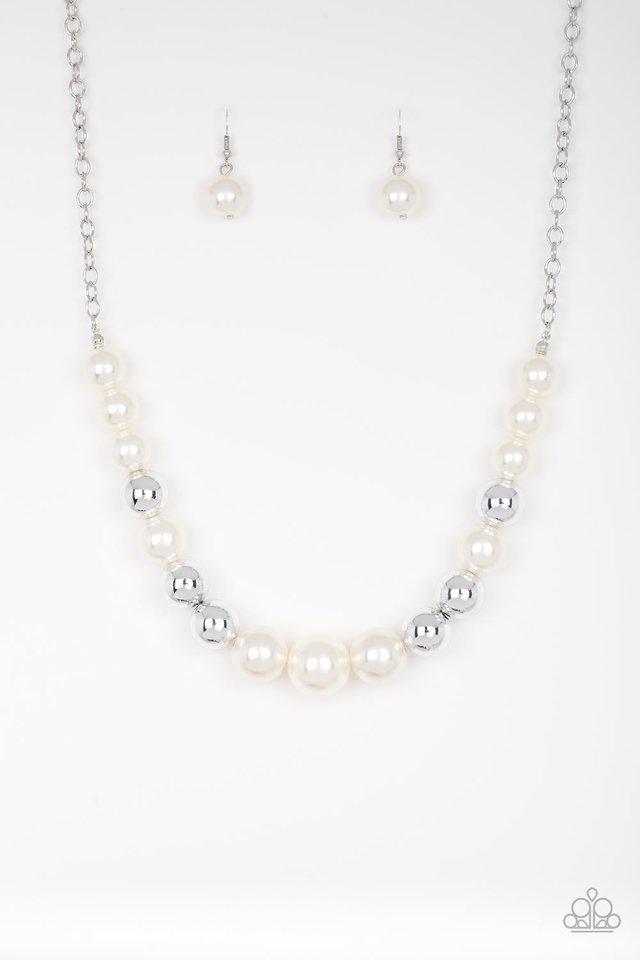 Take Note - White - Paparazzi Necklace Image