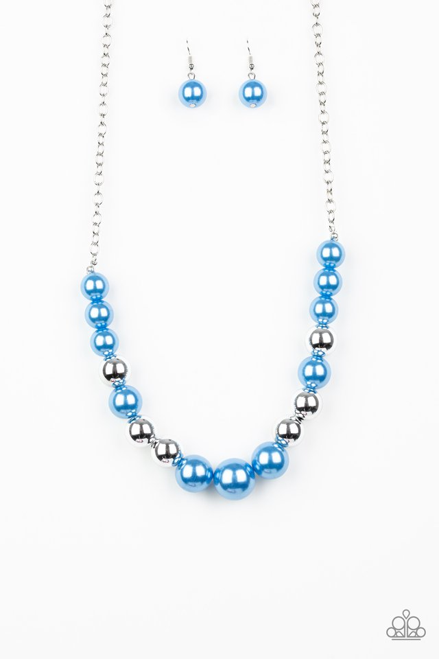 Take Note - Blue - Paparazzi Necklace Image
