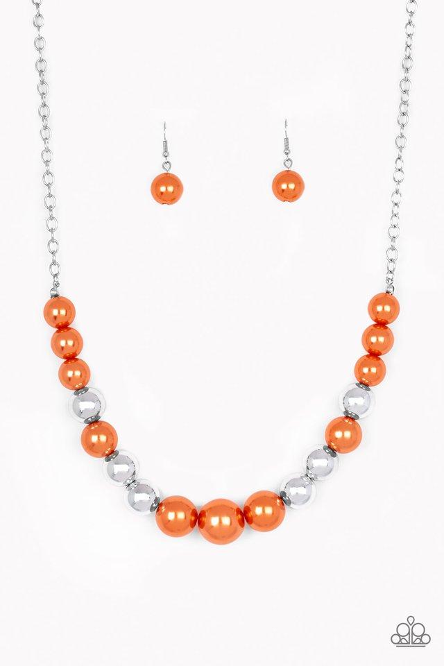 Take Note - Orange - Paparazzi Necklace Image